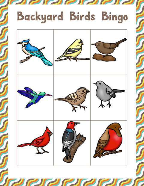 Bird-Bingo sheet